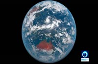گذر یک روز زمینی از دریچه دوربین فضایی در 12 ثانیه