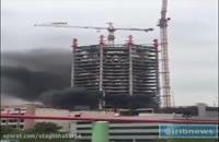 آتش گرفتن ساختمان در چهارراه جهان کودک