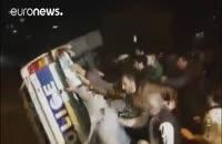 درگیری خشن پلیس گرجستان و تظاهرکنندگان