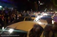 جشن پیروزی هواداران حسن روحانی درسعادت آباد