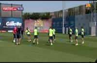 تمرین چهارم اردیبهشت 1396 تیم بارسلونا