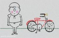 درباره ی ۳ قانون نیوتن با یک دوچرخه