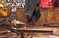 شکستن تیرآهن ها مثل چوب کبریت