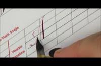 آموزش خوشنویسی انگلیسی خط کاپرپلیت | قسمت 5 حروف A-M-N