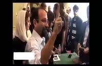 حضور اصغر فرهادی و همسرش پای صندوق های رای