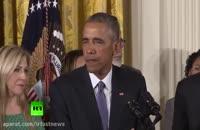 گریه اوباما در خلال سخنرانی درباره کنترل اسلحه merci-shop.mihanstore.net