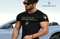 تی شرت مردانه طرح Maserati