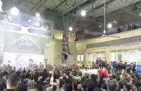 وداع با پیکر سردار  شهید محمد ناظری فرمانده نیروهای ویژه نیروی دریایی سپاه