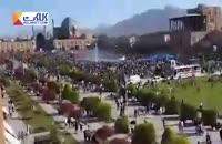 میدان نقش جهان اصفهان هنگام سخنرانی روحانی خالی است .