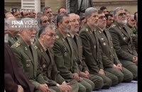 کلیپ رهبر انقلاب و دیدار با فرمانده های ارتش و کارکنان