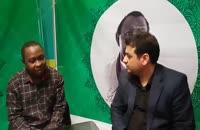 کلیپ حضور استاد رائفی پور در غرفه جنبش اسلامی نیجریه