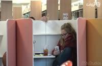 دوربین مخفی مردم آزاری در کتابخانه