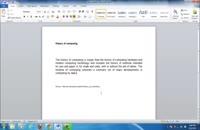 آموزش تصویری Wordمقدماتی تا پیشرفته(۵)