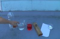 آزمایش پرتاب خمپاره با سرکه و جوش شیرین