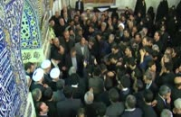 حضور رهبر انقلاب در لحظات خاکسپاری آیتالله واعظ طبسی