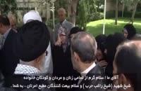 دختر شهید حزب الله لبنان (شیخ راغب حرب )سخنانی را خطاب به ولیامر مسلمین بیان کرد
