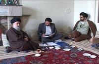 دیدار  مسولین پژوهشکده با آیت الله سید رضی شیرازی(ق3)