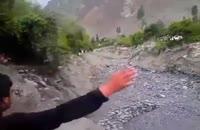 جاری شدن شن و ماسه بجای آّب در رودخانه