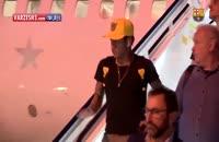 ویدئو حضور تیم بارسلونا در شهر لاس پالماس اسپانیا برای بازی با این تیم