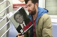 بدست گرفتن کتابهایی با جلد فریب دهنده در مترو برای دیدن واکنش مردم
