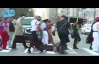 جنگ رقص حماسی مورتال کمبات در برابر مبارز خیابانی در انظار عمومی