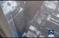 سقوط جرثقیل در منهتنِ نیویورک