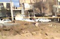میدان امام خمینی(ره)شهر ابهر تخریب شد.