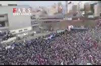 ورود رئیسی به اجتماع بزرگ مردم مشهد