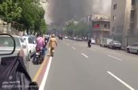 آتش سوزی در پمپ بنزین خیابان شریعتی تقاطع مطهری