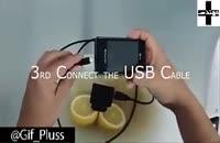 شارژ گوشی همراه با لیمو