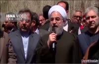 کلیپ حضور رئیس جمهور در مناطق سیل زده آذربایجان