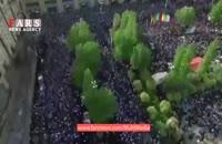 تصاویر هوایی از اجتماع بینظیر حامیان رئیسی